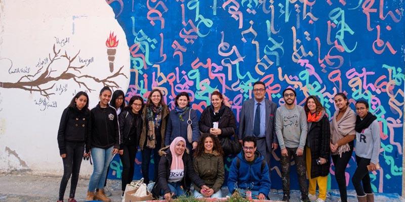 En photos : Street fann de Mobdiun au Lycée du Kram
