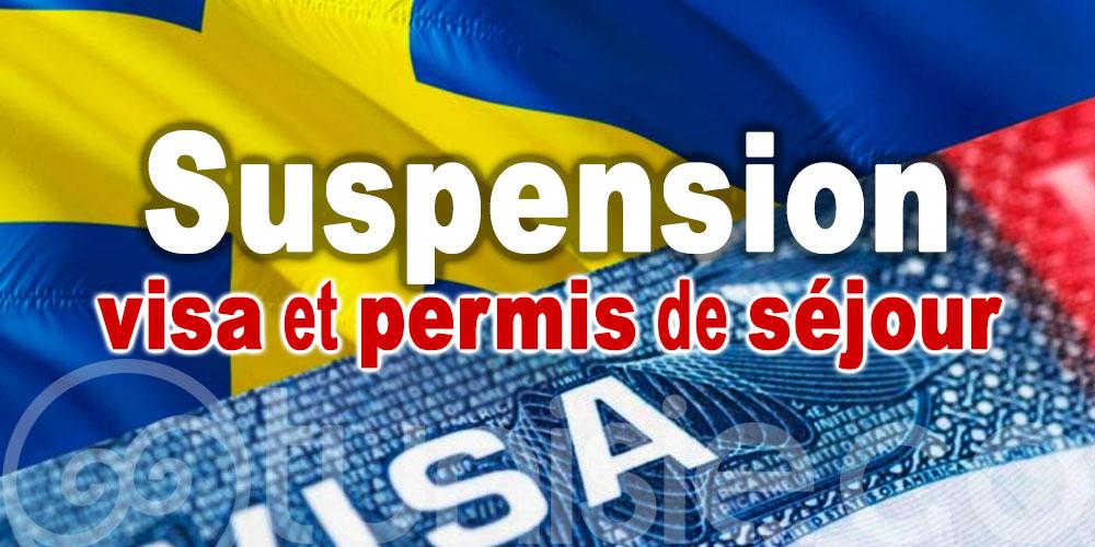 Suède: Suspension provisoire des visas et permis de séjour