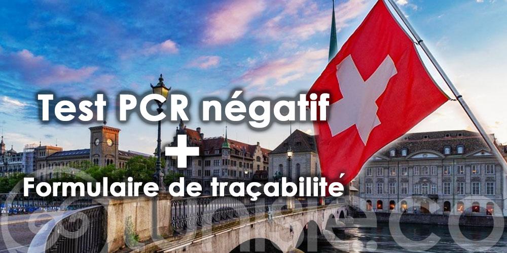 Test négatif et un formulaire à remplir pour entrer en Suisse