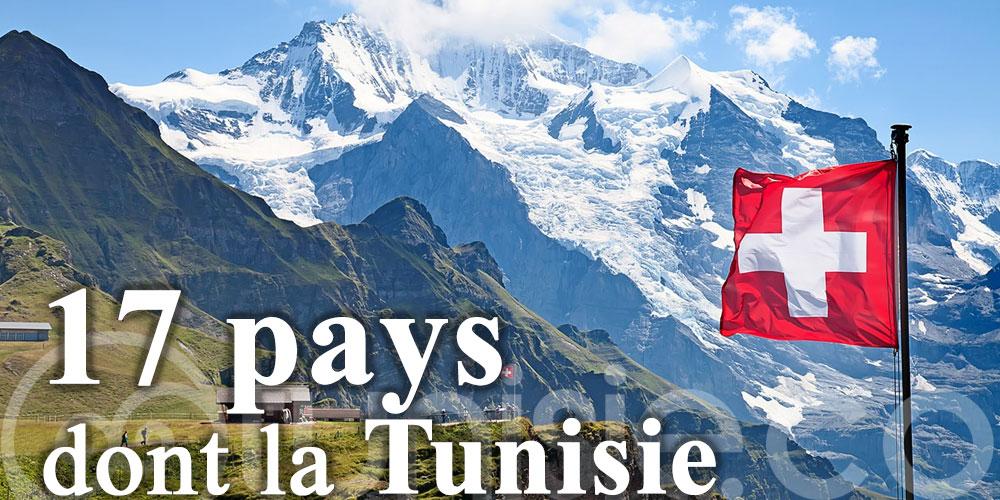 La Suisse rouvre ses frontières à 17 pays dont la Tunisie