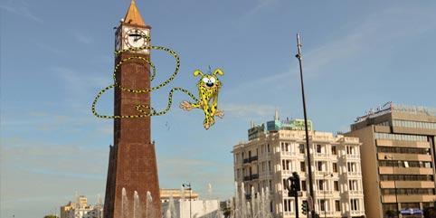 En photos : Quand les personnages des dessins animés envahissent Tunis