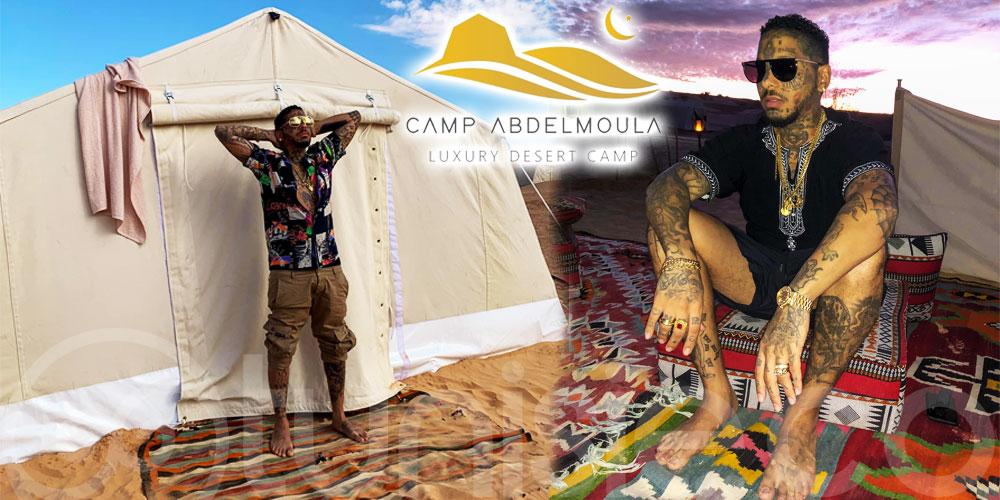 En photos : Swagg Man a choisi CAMP Abdelmoula pour un séjour en plein désert