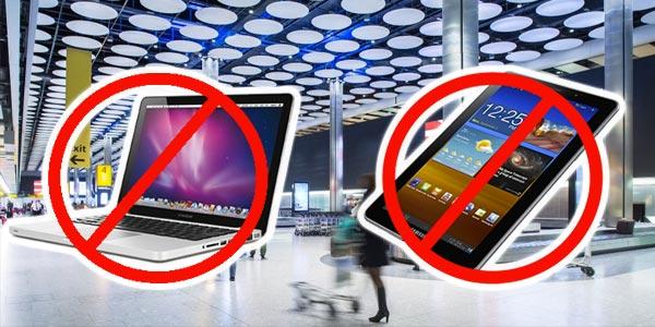 �? partir du 25 mars plus de tablettes ni d'ordinateurs de Tunis vers Londres