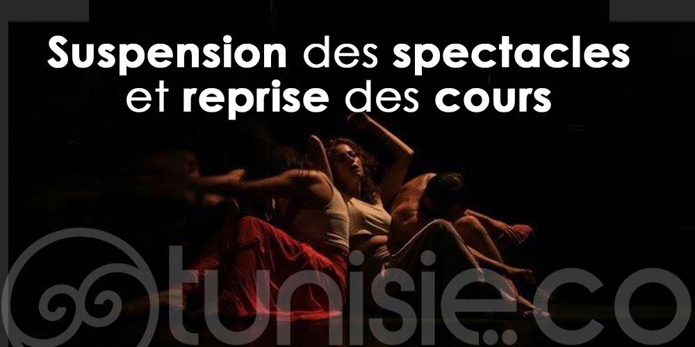 EL TEATRO : Suspension des spectacles et reprise des cours