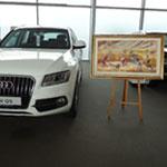 En photos l´exposition Audi In Art avec le peintre M´hammed Ressassi