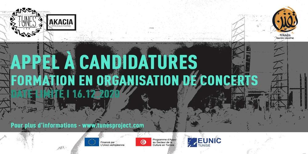 Appel à candidatures pour un atelier de formation sur 'l'Organisation de concerts'
