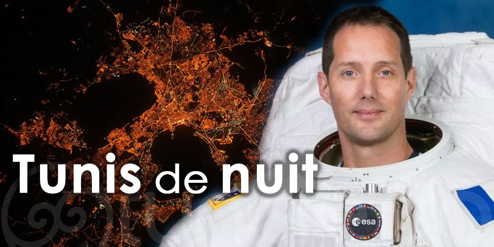 Tunis de nuit et depuis l'espace aux yeux de l'astronaute français Thomas Pesquet