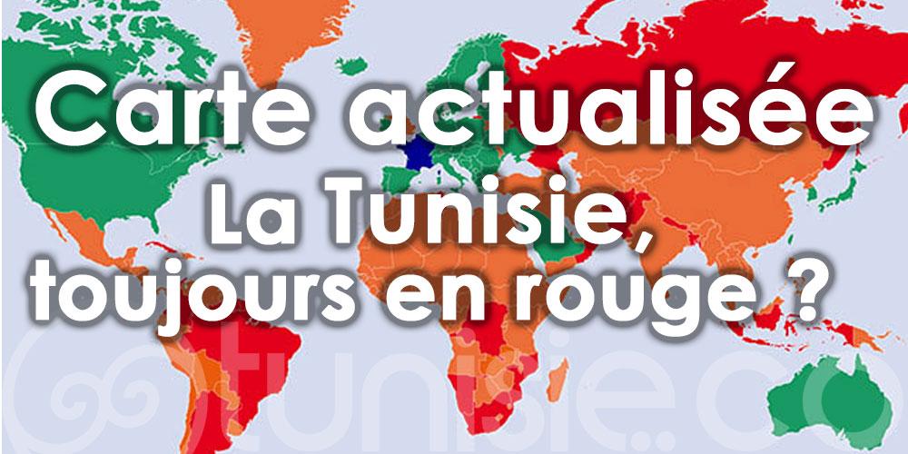 La Tunisie, toujours en rouge du classement français des pays par couleur?
