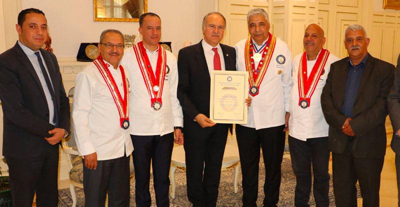 Hatem Ben Salem membre d'honneur Toques Blanches Tunisie