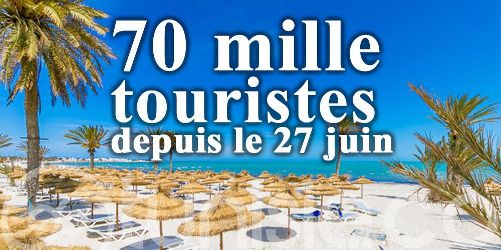 La Tunisie a accueilli 70 mille touristes depuis le 27 juin