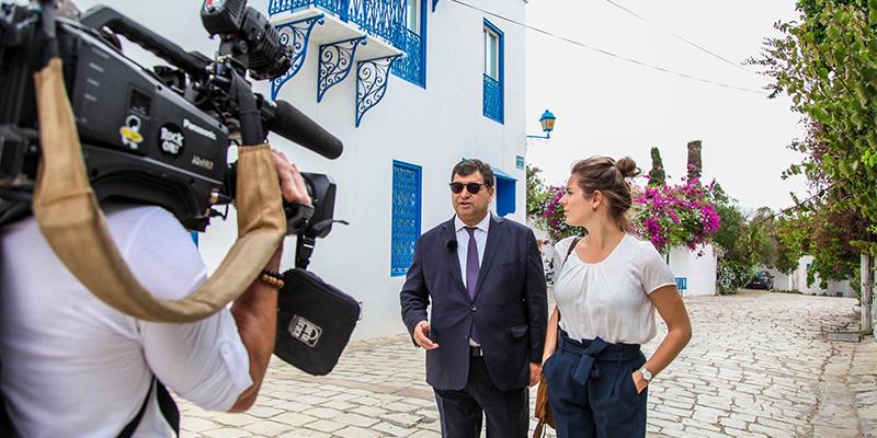 René Trabelsi sur TF1, coulisses de l'enregistrement en photos