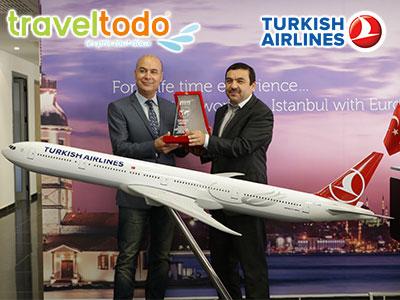 En vidéos : Traveltodo reçoit le prix du meilleur vendeur Turkish Airlines pour l'année 2017