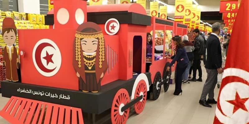 En photos : Le train des produits alimentaires tunisiens en Jordanie