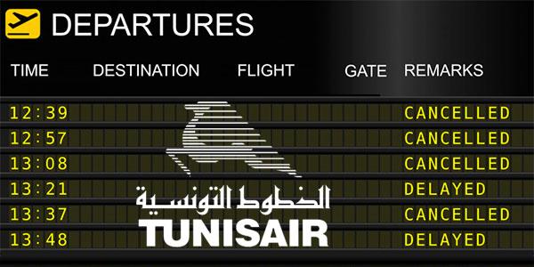 Liste des vols Tunisair qui risquent l'annulation aujourd'hui