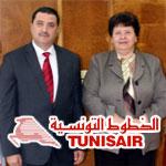 En photos : Passage de flambeau à Tunisair entre Sarra Rejeb et Ilyes Mnakbi