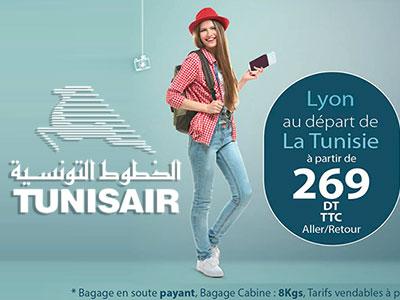 Tunisair lance le Tarif Sans Bagage à 269 Dt