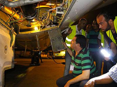 En photos : Hygiene, entretien et sécurité des avions Tunisair au centre d'une visite
