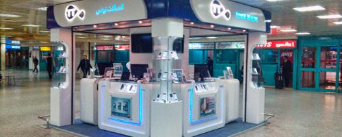 Un nouveau box de Tunisie Télécom à l´aéroport Tunis Carthage