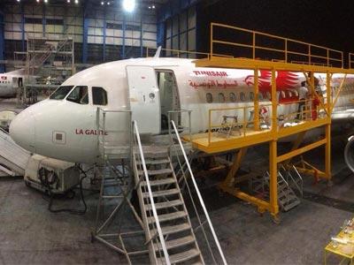 L'avion Tunisair de l'équipe nationale aux couleurs de la Coupe du monde