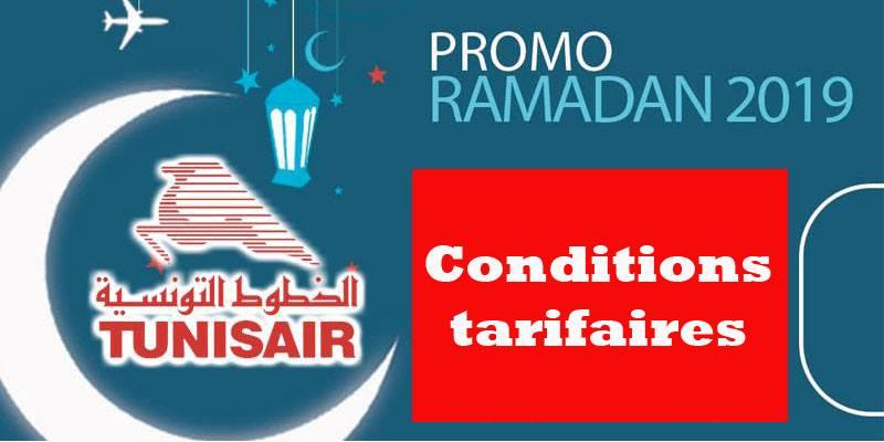 Conditions tarifaires de la Promo Ramadan de Tunisair