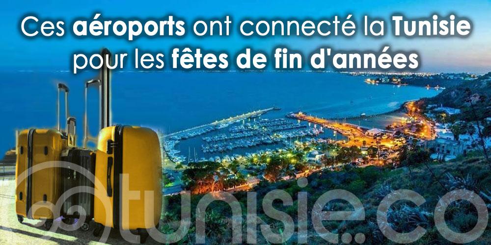 Ces aéroports ont connecté la Tunisie pour les fêtes de fin d'année