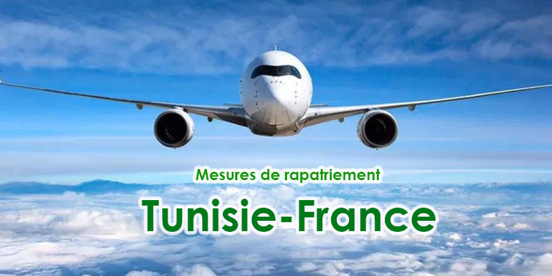 Mesures de rapatriement Tunisie-France