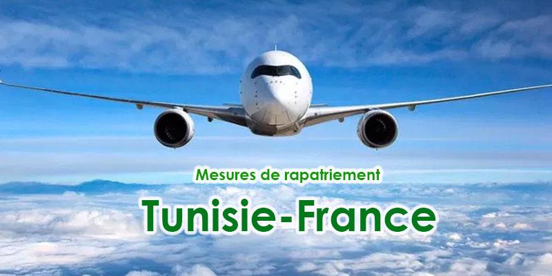 Mesures de rapatriement Tunisie-France