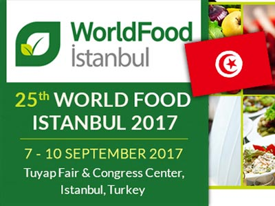 Prochainement, la Tunisie participe au World Food Istanbul 2017