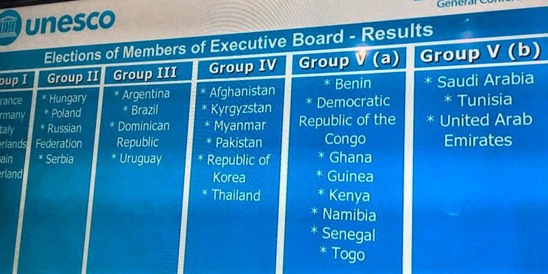 La Tunisie élue membre du conseil exécutif de l'UNESCO !