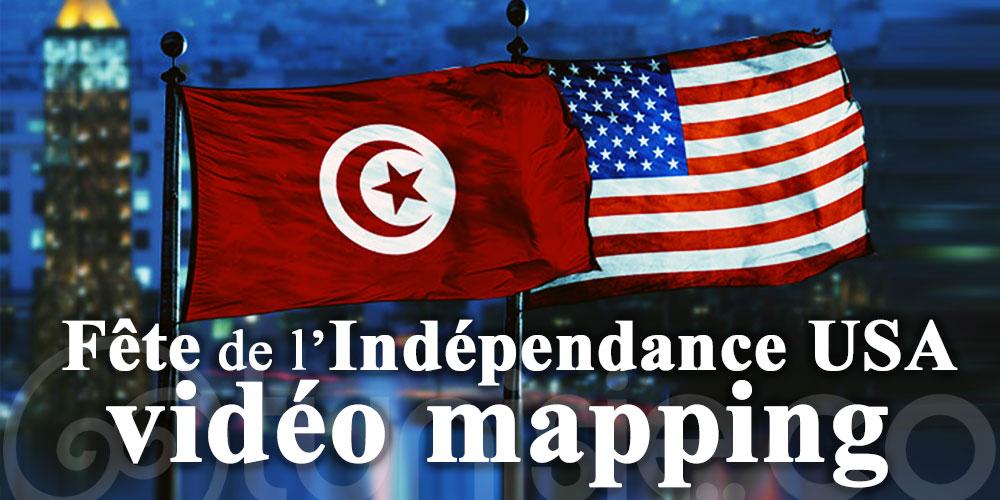 Mapping vidéo à l'ambassade américaine du 3 au 5 juillet