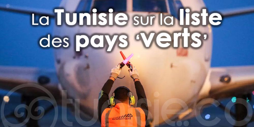 La Tunisie sur la liste des pays ''verts'' pour la France