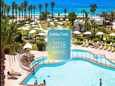Les Hôtels les plus populaires à Hammamet selon le Award Holiday check  2018