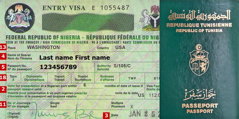 Visa pour le Nigéria garanti aux Tunisiens à leur arrivée à l'aéroport