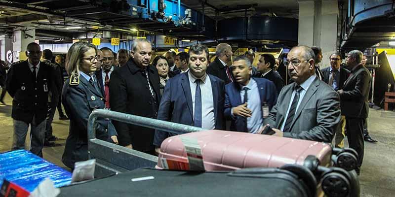 زيارة تفقد لمصالح المسافرين والأمتعة بمطار تونس قرطاج الدولي