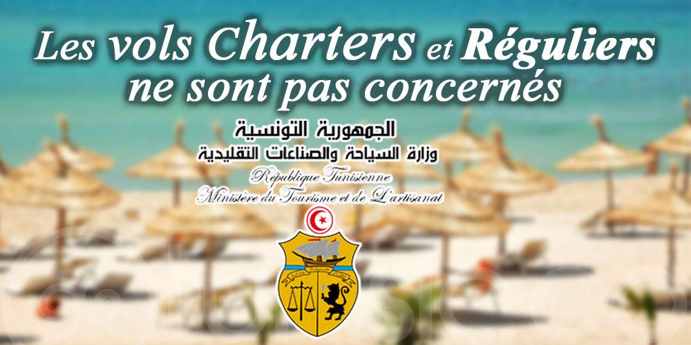 Ministère du Tourisme: Les nouvelles mesures annoncées ne concernent pas les vols charters et réguliers