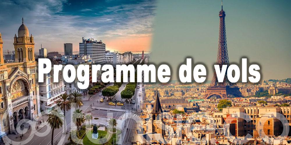 Répartition des vols Tunisair entre la France et la Tunisie