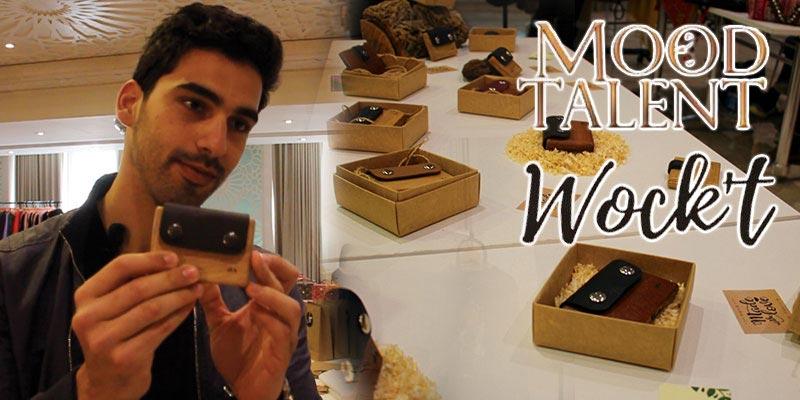 Skander Ouni présente les portefeuilles en bois de la marque Wock't