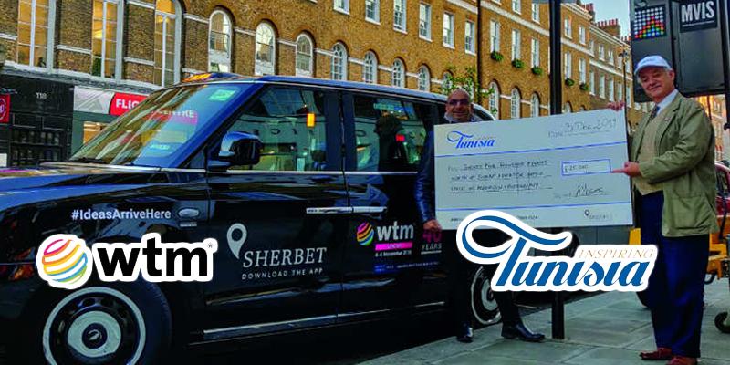 De la publicité sur les taxis électriques londoniens, offerte à la Tunisie