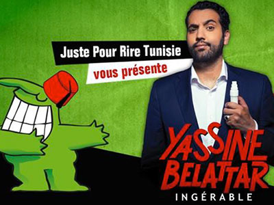 Spectacle 'Ingérable' de Yassine Belattar au Zephyr la Marsa le 28 Avril