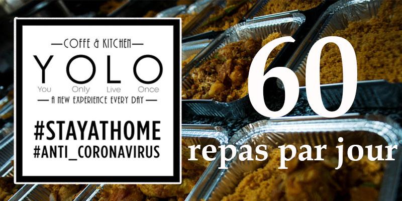 Yolo ElKantaoui offre 60 repas par jour pour les sécuritaires et les bénévoles du Croissant-Rouge tunisien