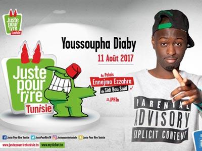 Youssoupha Diaby au festival Juste Pour Rire Tunisie le 11 août