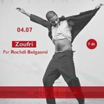 Une soirée café chanta avec �??Zoufri´ de Rochdi Belgasem au café théâtre Le Mondial samedi 4 juillet