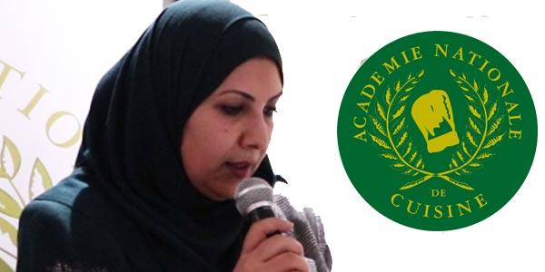 Délégation Tunisienne de l'Académie Nationale de Cuisine : Allocution de Mme Anissa Jemail