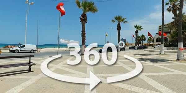 Découvrez la corniche de Sousse en 360° avec Google Street View