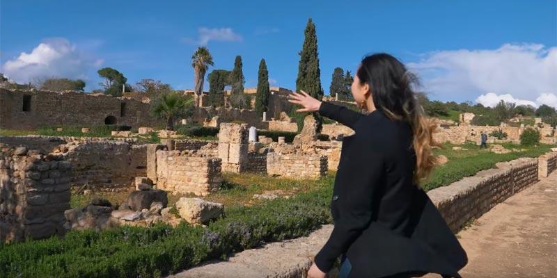 En vidéo : Quand la Suédoise Denise Sandquist découvre les monuments historiques de Carthage