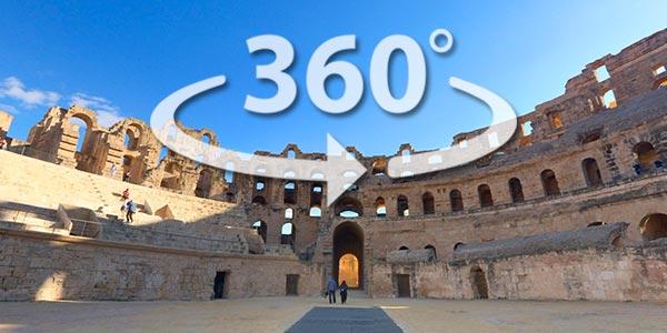 Découvrez l'Amphithéâtre d'El Jem en 360° avec Google Street View