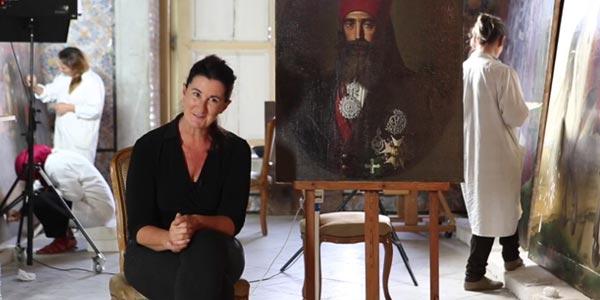 En vidéo : Dans les coulisses de l'Eveil d'une nation: La restauration des toiles