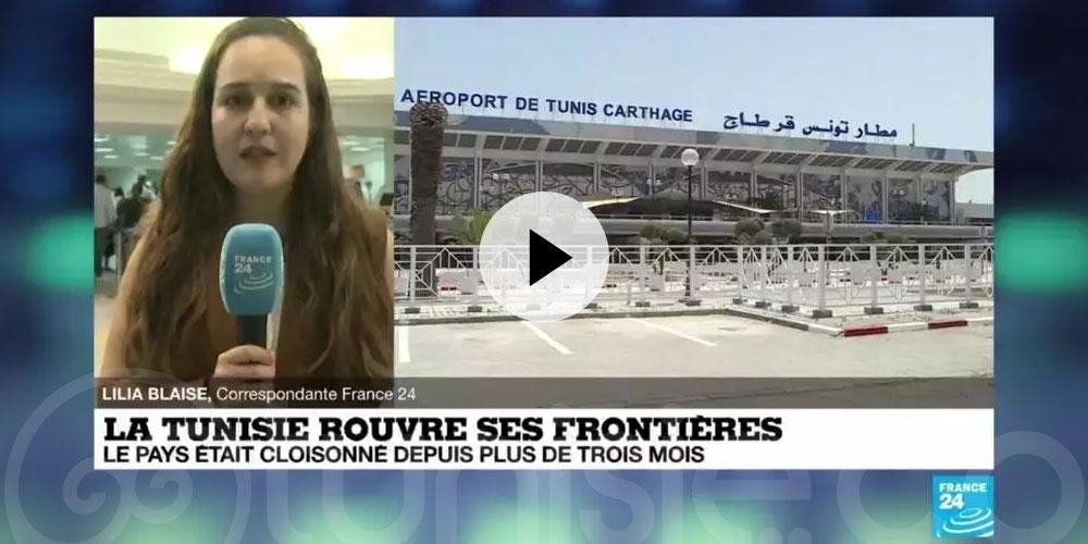 La réouverture des frontières tunisiennes en direct sur France 24