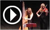 Ouverture de l'Octobre Musical 2014 par le duo italien entre Harpe et Violon