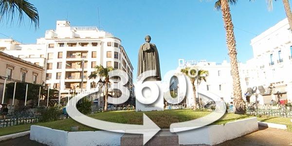 Découvrez la statut de Ibn Khaldoune en 360° avec Google Street View